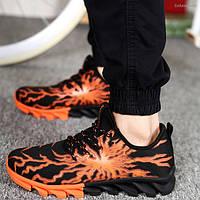 Стильные мужские кроссовки с изображением молнии