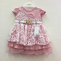 Детская одежда оптом Платье нарядное для девочек оптом р.1-2-3 года