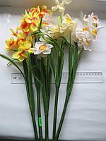 """Ветка из искусственных цветов """"Нарциссы"""" 9 цветов"""