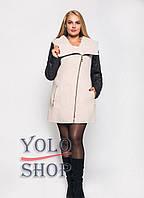 Женское пальто №42-плащевка (весна-осень, батал)