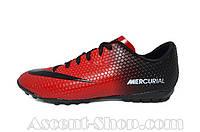 Сороконожки футбольные Nike Mercurial Red-Black (реплика)