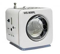 Портативная MP3 колонка от USB FM WS-908RL White