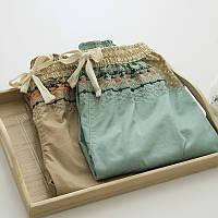Укороченные хлопковые брюки