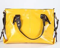 Яркая желтая женская сумка Traum 7240-04