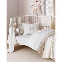 Постельное белье для младенцев Karaca Home Bebe Elephant лиловое с вышивкой