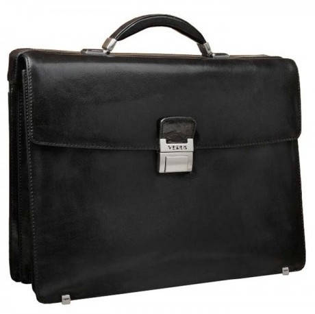 Стильный портфель мужской кожаный с отделом для ноутбука VERUS V 30211A черный