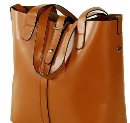 Модная сумка женская 2 в 1 Traum 7310-03 коричневый