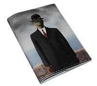 Обложка на паспорт сын человеческий (натур. кожа) Подарок на 14 октября