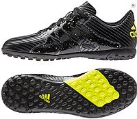 Бутсы мужские Adidas X 15.4 TF Black (Оригинал). кроссовки, кроссовки, кроссовки