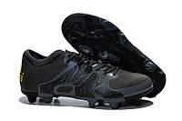 Бутсы мужские Adidas X 15.1 FG Black Оригинал. кроссовки, кроссовки