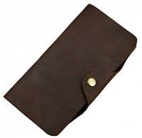 Чудесное мужское кожаное портмоне ручной работы S.J.D. 8032R коричневый