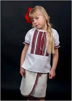 Вышиванка детская для девочки белая женская ТМ Два Кольори 0134 хлопок
