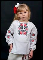 Вышиванка детская для девочки белая женская ТМ Два Кольори 0188 хлопок