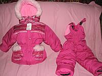Детский зимний термокомбинезон Зимушка р.110 девочкам розовый арнамент