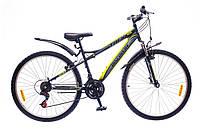 "Велосипед Discovery Trek 26"" 14G Vbr рама-15"" St 2016 (OPS-DIS-26-047-1) черно-серо-зеленый"