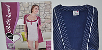 Комплект ночная сорочка женская с халатом Турция размер M,L