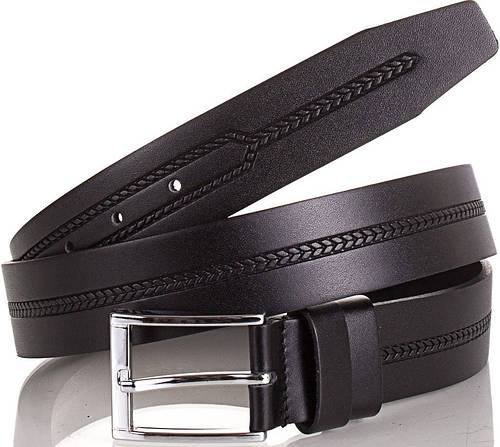 Удобный стильный мужской ремень из натуральной кожи Y.S.K. (УАЙ ЭС КЕЙ) SHI3030-2 черный