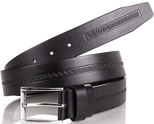 Мужской стильный ремень из натуральной кожи Y.S.K. (УАЙ ЭС КЕЙ) SHI3032-2 черный