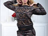 Брендовый гламурный спортивный костюм женский реглан Турция 36 38 40 42 44 размер камуфляж в розах