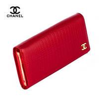 Кошелек женский Chanel, лаковый, натуральная кожа, красный, внутренний