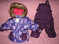 Детский зимний термокомбинезон Зимушка р.86 девочкам фиолетовый цветок до -30 мороза