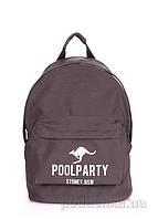 Рюкзак молодежный Poolparty Kangaroo grey