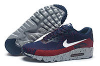 Кроссовки мужские Nike Air Max 90 MD Flyknit Navy Red (найк аир макс 90, оригинал)