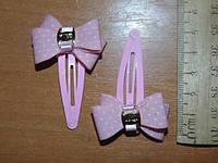 Хлопушки для волос с двойным бантиками и пряжечкой