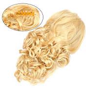 Шиньон из искусственных волос на заколках Изящный завиток 50 см Lady Victory 100г LDV SHS-CCR /51-41