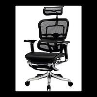 Компьютерное кресло Ergohuman plus с подставкой для ног черного цвета (EHPE-AB-HAM-LM)