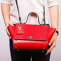 Женская красная сумочка модельная имитация Celine