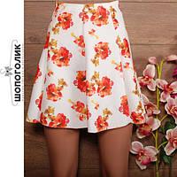 Кремовая весенне-нежная женственная юбка
