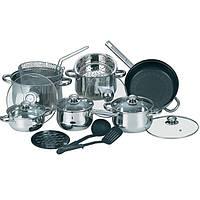 Набор кухонной посуды из нержавеющей стали 17 предметов (4 кастр,1 ковш, 1 сков, принадл.) Maestro MR-2520