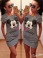 Летняя Туника-Платье ПОЛОСКА Микки Маус - Mickey Mouse!