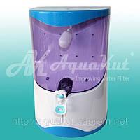 Осмос настольный с помпой,прозрачный бак воды 7л. 75G RO-4; X01.