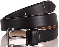 Мужской качественный ремень из натуральной кожи Y.S.K. (УАЙ ЭС КЕЙ) SHI4030-2 черный