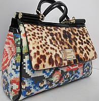 Кожаная сумка в стиле саквояжа  Velina Fabbiano