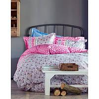 Постельное белье Karaca Home Chilena розовое евро размера