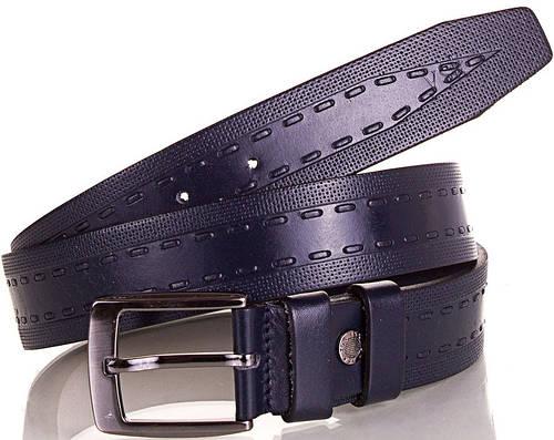 Мужской стильный кожаный ремень Y.S.K. (УАЙ ЭС КЕЙ) SHI3044-6 синий