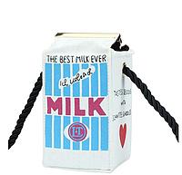 Сумочка - пакет молока Белая