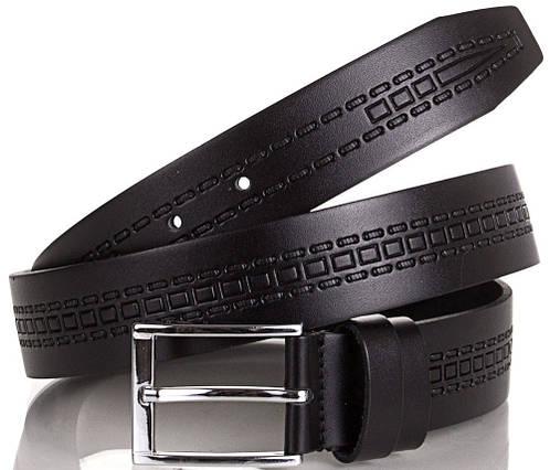 Мужской оригинальный кожаный ремень Y.S.K. (УАЙ ЭС КЕЙ) SHI3037-2 черный