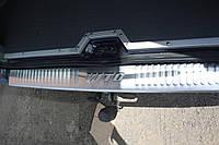 Накладка на задний бампер Mercedes Vito 638 (мерседес вито 638), с логотипом нерж.