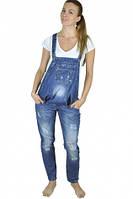 Джинсовый комбинезон для беременных, голубой джинс