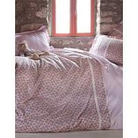 Комплект постельного белья Karaca Home Emily бежевое с игрушкой полуторного размера