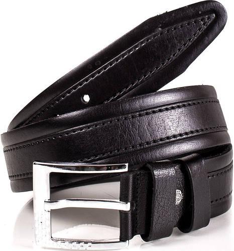 Классический кожаный мужской ремень Y.S.K. (УАЙ ЭС КЕЙ) SHI3018-2 черный