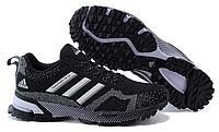 Женские кроссовки Adidas Marathon (адидас марафон) черные