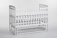 Кровать детская Детский сон из ольхи с маятником без шухляд, белая