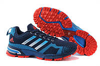 Мужские беговые кроссовки Adidas Marathon (адидас марафон) синие