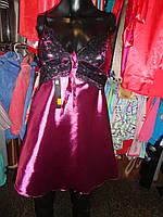 Атласные ночные сорочки фиолет
