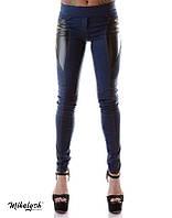 Женские лосины стрейч джинс+кожа